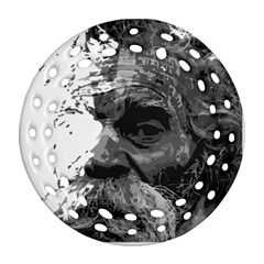 Grandfather Old Man Brush Design Ornament (round Filigree) by Amaryn4rt