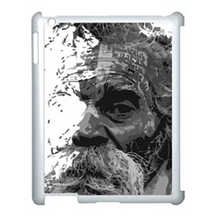 Grandfather Old Man Brush Design Apple Ipad 3/4 Case (white) by Amaryn4rt