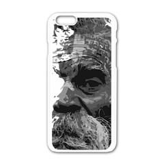 Grandfather Old Man Brush Design Apple Iphone 6/6s White Enamel Case by Amaryn4rt