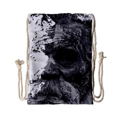 Grandfather Old Man Brush Design Drawstring Bag (small) by Amaryn4rt
