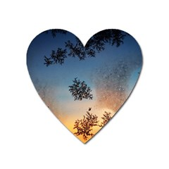 Hardest Frost Winter Cold Frozen Heart Magnet by Amaryn4rt
