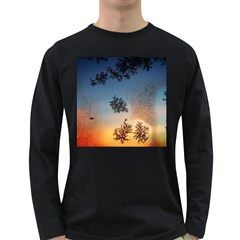 Hardest Frost Winter Cold Frozen Long Sleeve Dark T Shirts by Amaryn4rt