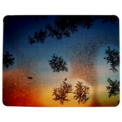 Hardest Frost Winter Cold Frozen Jigsaw Puzzle Photo Stand (rectangular) by Amaryn4rt
