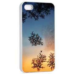 Hardest Frost Winter Cold Frozen Apple Iphone 4/4s Seamless Case (white)