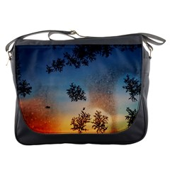 Hardest Frost Winter Cold Frozen Messenger Bags by Amaryn4rt