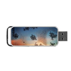 Hardest Frost Winter Cold Frozen Portable Usb Flash (one Side) by Amaryn4rt