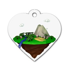 Low Poly 3d Render Polygon Dog Tag Heart (two Sides) by Amaryn4rt