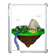Low Poly 3d Render Polygon Apple Ipad 3/4 Case (white) by Amaryn4rt
