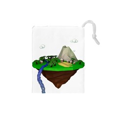 Low Poly 3d Render Polygon Drawstring Pouches (small)  by Amaryn4rt
