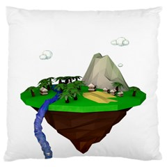 Low Poly 3d Render Polygon Standard Flano Cushion Case (one Side) by Amaryn4rt