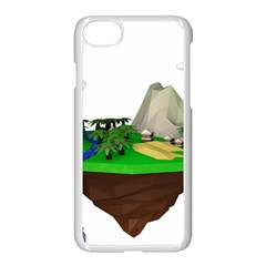 Low Poly 3d Render Polygon Apple Iphone 7 Seamless Case (white) by Amaryn4rt