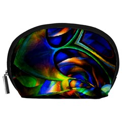 Light Texture Abstract Background Accessory Pouches (large)