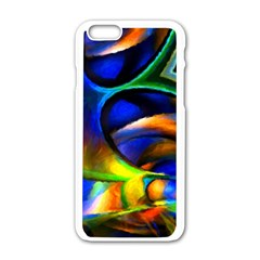 Light Texture Abstract Background Apple Iphone 6/6s White Enamel Case by Amaryn4rt
