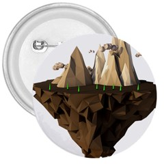 Low Poly Floating Island 3d Render 3  Buttons by Amaryn4rt