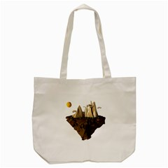 Low Poly Floating Island 3d Render Tote Bag (cream) by Amaryn4rt