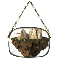 Low Poly Floating Island 3d Render Chain Purses (two Sides)  by Amaryn4rt