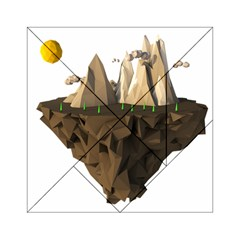Low Poly Floating Island 3d Render Acrylic Tangram Puzzle (6  x 6 ) by Amaryn4rt