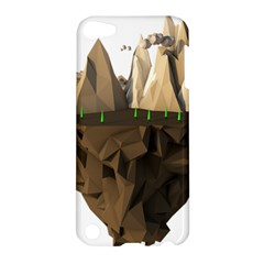 Low Poly Floating Island 3d Render Apple Ipod Touch 5 Hardshell Case by Amaryn4rt