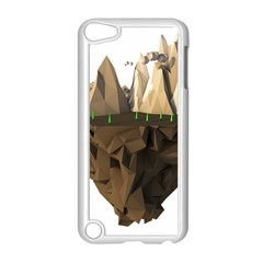 Low Poly Floating Island 3d Render Apple Ipod Touch 5 Case (white) by Amaryn4rt