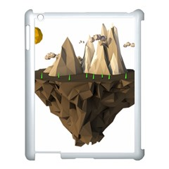 Low Poly Floating Island 3d Render Apple Ipad 3/4 Case (white) by Amaryn4rt