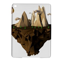 Low Poly Floating Island 3d Render Ipad Air 2 Hardshell Cases by Amaryn4rt