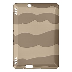 Pattern Wave Beige Brown Kindle Fire Hdx Hardshell Case