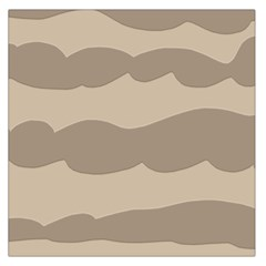 Pattern Wave Beige Brown Large Satin Scarf (square) by Amaryn4rt