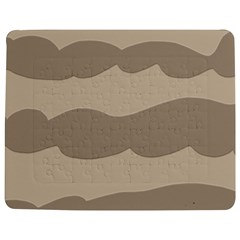 Pattern Wave Beige Brown Jigsaw Puzzle Photo Stand (rectangular) by Amaryn4rt