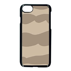 Pattern Wave Beige Brown Apple Iphone 7 Seamless Case (black)