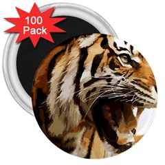 Royal Tiger National Park 3  Magnets (100 Pack) by Amaryn4rt