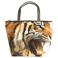 Royal Tiger National Park Bucket Bags by Amaryn4rt