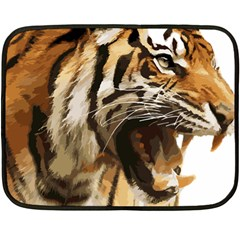 Royal Tiger National Park Fleece Blanket (mini) by Amaryn4rt