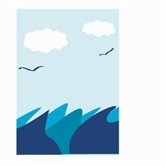 Sea Large Garden Flag (two Sides) by Amaryn4rt