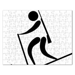Biathlon Pictogram Rectangular Jigsaw Puzzl by abbeyz71