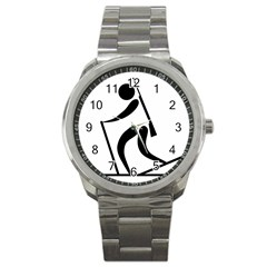 Biathlon Pictogram Sport Metal Watch by abbeyz71