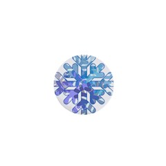 Snowflake Blue Snow Snowfall 1  Mini Buttons by Amaryn4rt