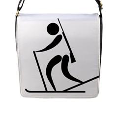 Biathlon Pictogram Flap Messenger Bag (l)  by abbeyz71