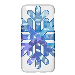 Snowflake Blue Snow Snowfall Apple Iphone 6 Plus/6s Plus Hardshell Case by Amaryn4rt