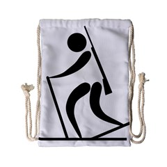Biathlon Pictogram Drawstring Bag (small) by abbeyz71