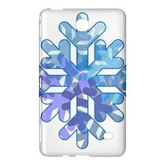 Snowflake Blue Snow Snowfall Samsung Galaxy Tab 4 (8 ) Hardshell Case  by Amaryn4rt