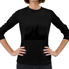 The Pier The Seagulls Sea Graphics Women s Long Sleeve Dark T Shirts