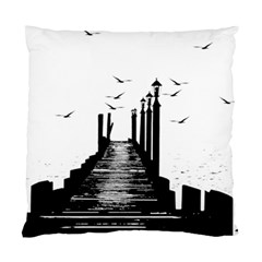 The Pier The Seagulls Sea Graphics Standard Cushion Case (one Side) by Amaryn4rt