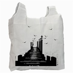 The Pier The Seagulls Sea Graphics Recycle Bag (one Side)