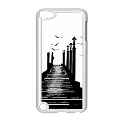 The Pier The Seagulls Sea Graphics Apple Ipod Touch 5 Case (white) by Amaryn4rt