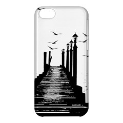 The Pier The Seagulls Sea Graphics Apple Iphone 5c Hardshell Case by Amaryn4rt