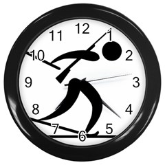 Biathlon Pictogram Wall Clocks (black) by abbeyz71