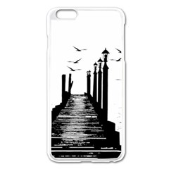 The Pier The Seagulls Sea Graphics Apple Iphone 6 Plus/6s Plus Enamel White Case by Amaryn4rt