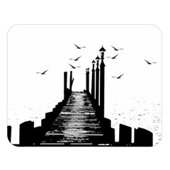 The Pier The Seagulls Sea Graphics Double Sided Flano Blanket (large)