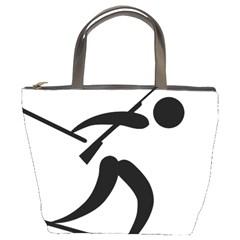 Biathlon Pictogram Bucket Bags by abbeyz71