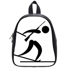 Biathlon Pictogram School Bags (small)  by abbeyz71